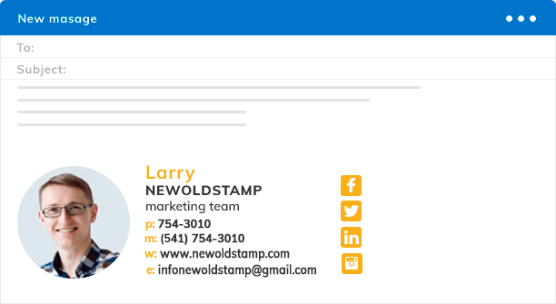 Free email signature generator. Create free email signature online  - NEWOLDSTAMP