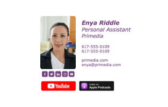 Email signature for personal assistants
