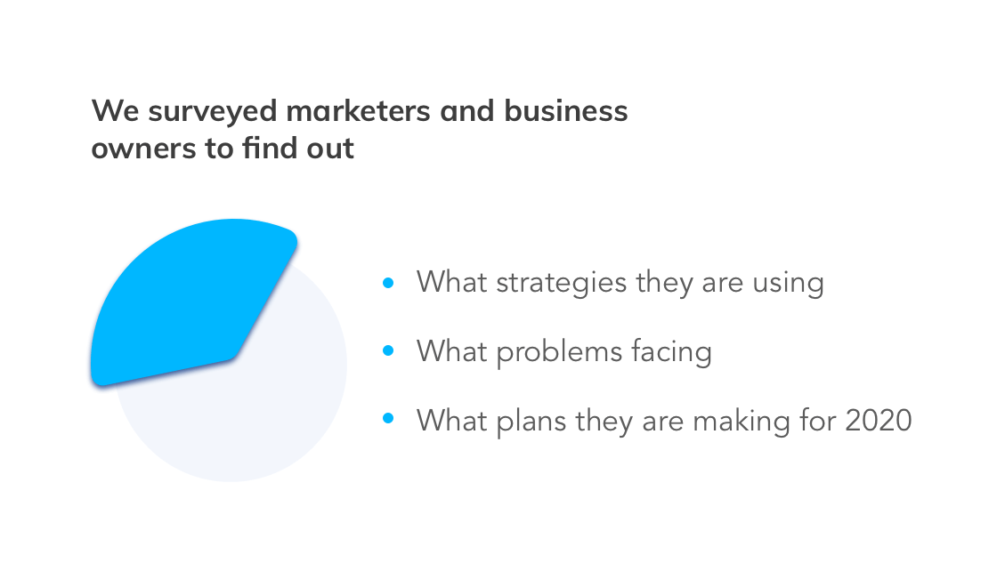 We surveyed marketers and business owners to find out