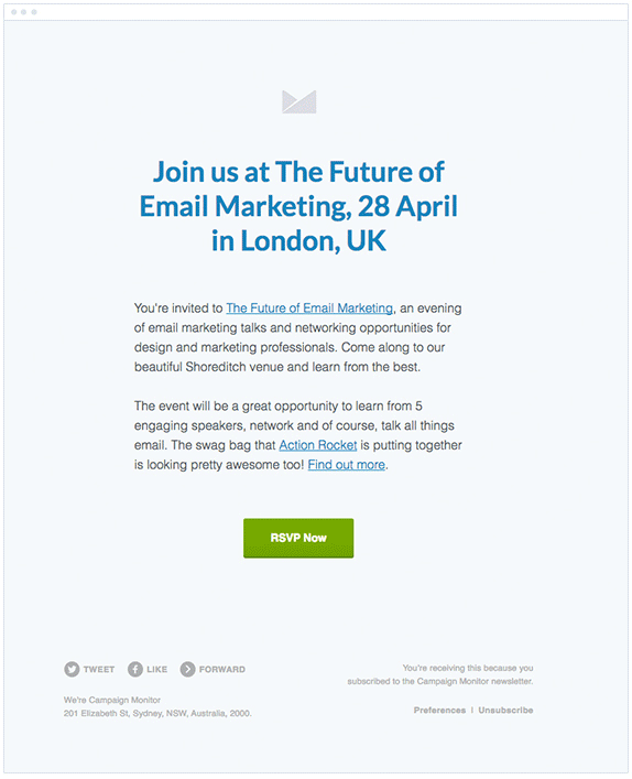 Email Event Invitation Template