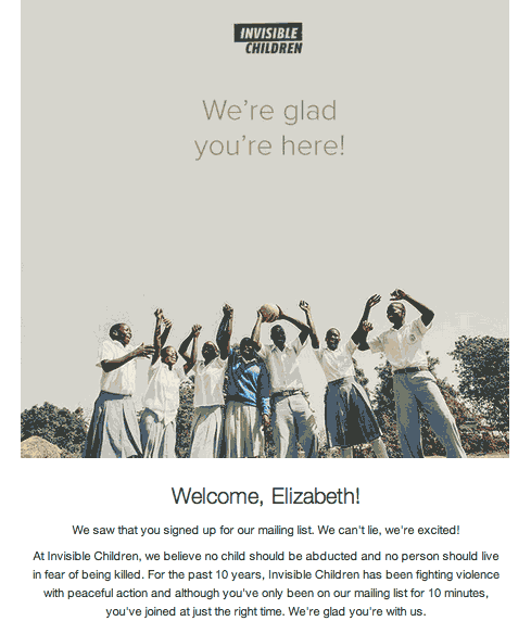 welcome email 2