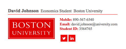 email signature examples for students 3