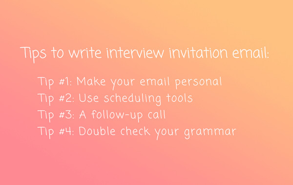 How to Write the Best Interview Invitation Email (With