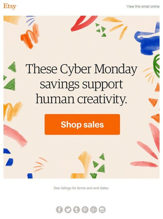 Cyber Monday greetings