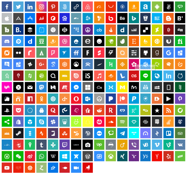 Social icons - NEWOLDSTAMP editor