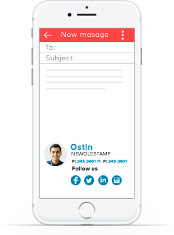 Email signature for mobiles - NEWOLDSTAMP