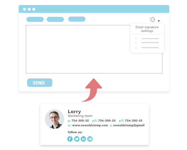 email signature implementation - NEWOLDSTAMP