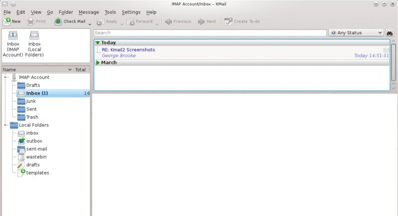 Kmail email client