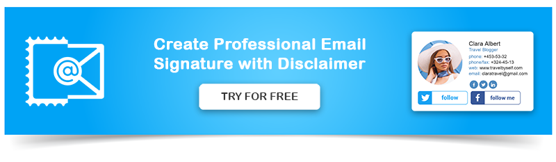Create Email Signature with Disclaimer