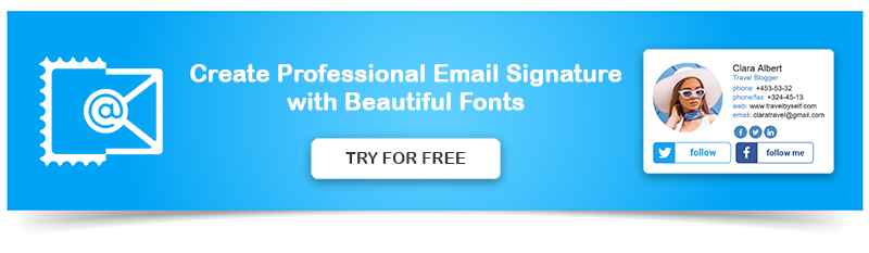 Create Email Signature with Cool Fonts