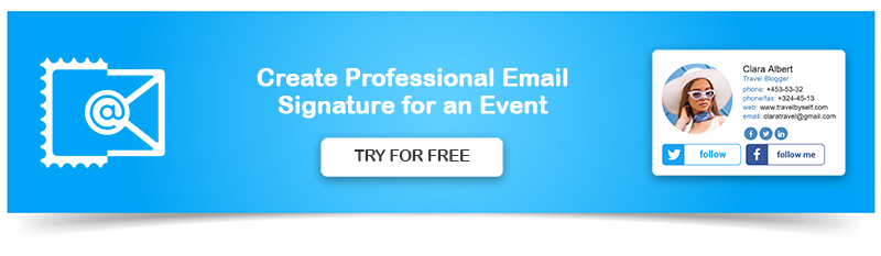 Create Email Signature for Event Planner