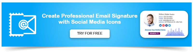 Create Professional Email Signature with Social Media Icons