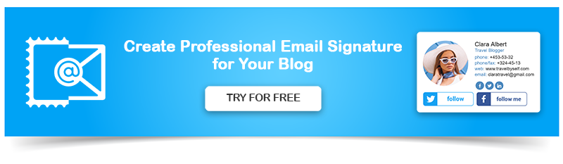 Create Professional Email Signature for Blogger