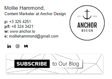 email signature examples for marketers with banner