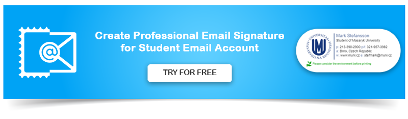 Create Professional Email Signature for Students