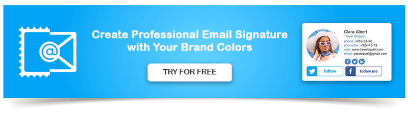 Create Professional Email Signature with Brand Colors