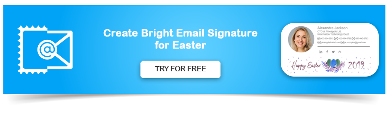 Create Email Signature for Easter