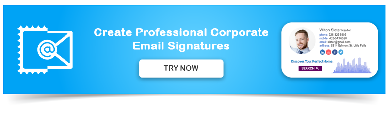 Email signature example for companies - NEWOLDSTAMP