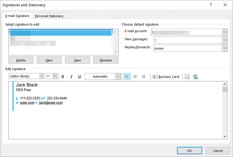 How to Create an Advanced Outlook Signature with NEWOLDSTAMP