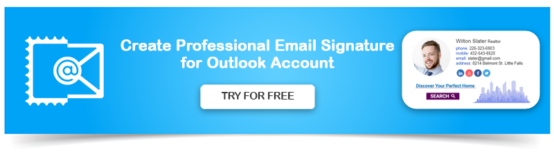Create Professional Email Signature for Outlook