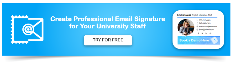 Create Professional Email Signature for University