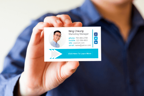 Email signature is a digital business card