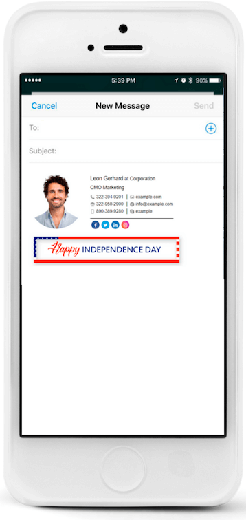 Make your email signature mobile-friendly