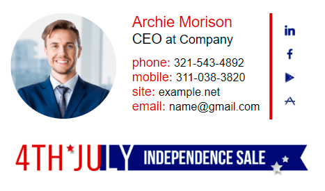 Email signature example for CEO