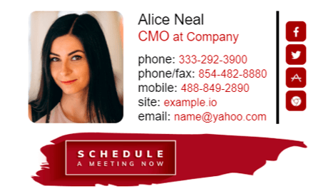 Email signature example for CMO