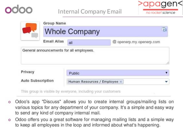 Email segmentation for a company