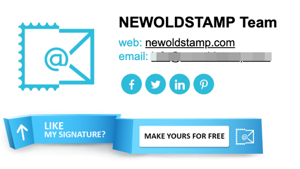 email signature example - NEWOLDSTAMP