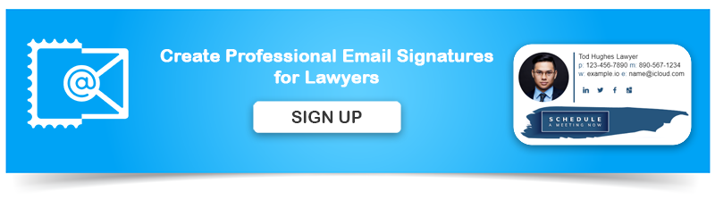 Create Professional Email Signature for Lawyers