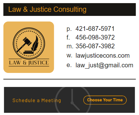 Create consistent company email signatures for lawyers