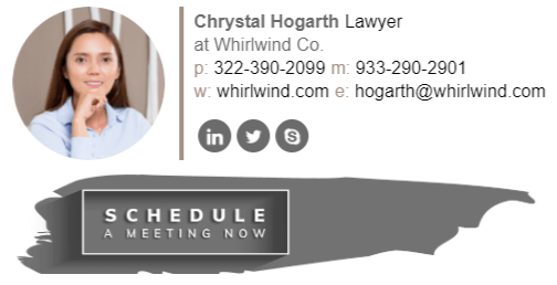 Create Professional Email Signature with CTA Banner for Lawyer
