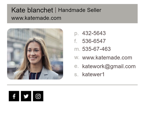 email signature examples for sellers