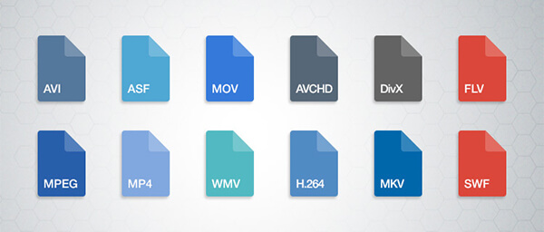 The most common video file formats