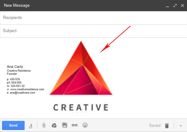 big images in email signature