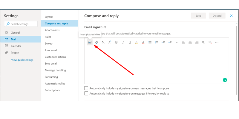 Add logo to your Outlook email signature