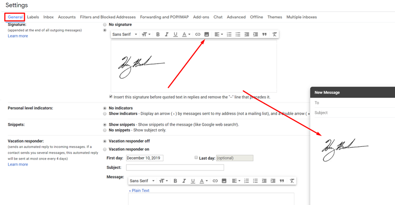 how to install handwritten signature to your email clients