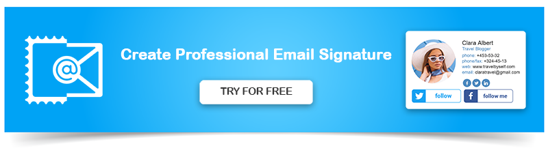 professional email signature banner