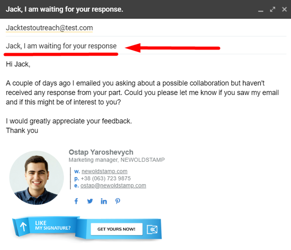 personalize your email