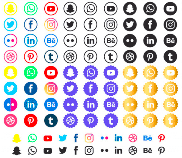 free social media icons for email signature