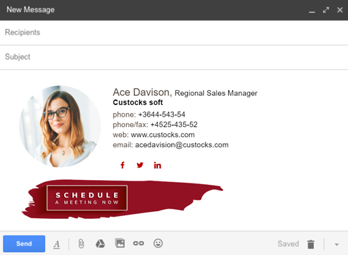 email signature example - Newoldstamp 12345