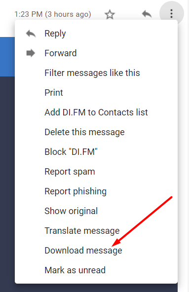 Download messages in Gmail