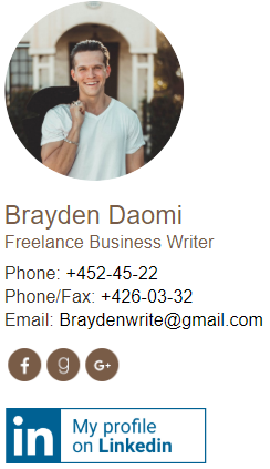 business writer email signature