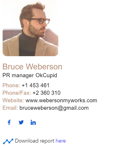 pr manager email signature example