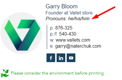 email signature with pronouns 4