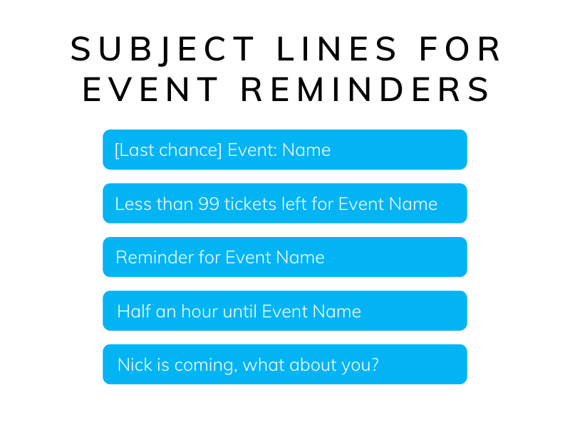 Event reminder subject lines