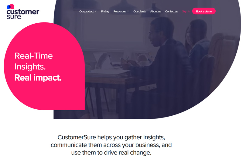 CustomerSure home page