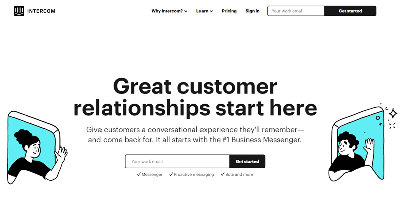 Intercom home page